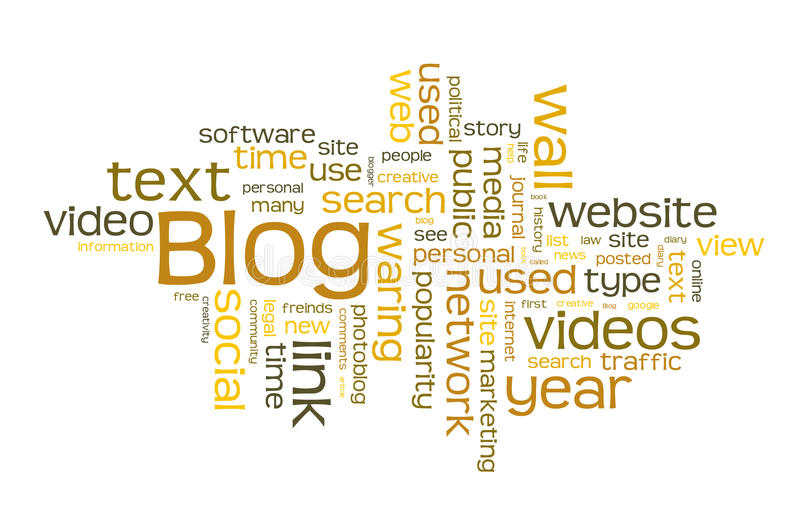 Σύννεφο λέξης Blog διανυσματική απεικόνιση