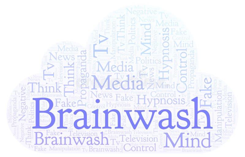 Σύννεφο λέξης Brainwash απεικόνιση αποθεμάτων