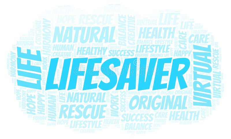 Σύννεφο λέξης Lifesaver ελεύθερη απεικόνιση δικαιώματος