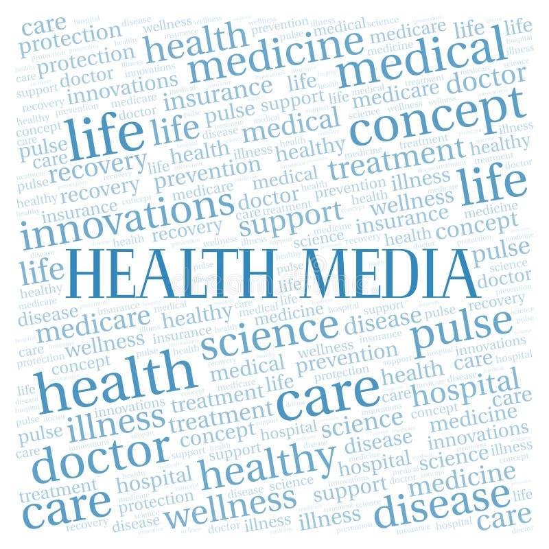 Σύννεφο λέξης MEDIA υγείας ελεύθερη απεικόνιση δικαιώματος