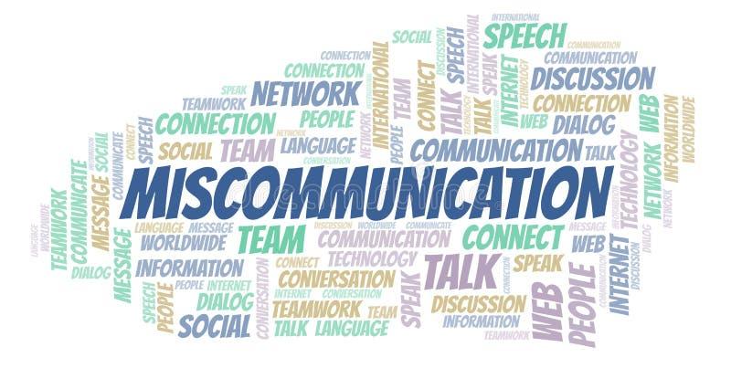 Σύννεφο λέξης Miscommunication διανυσματική απεικόνιση