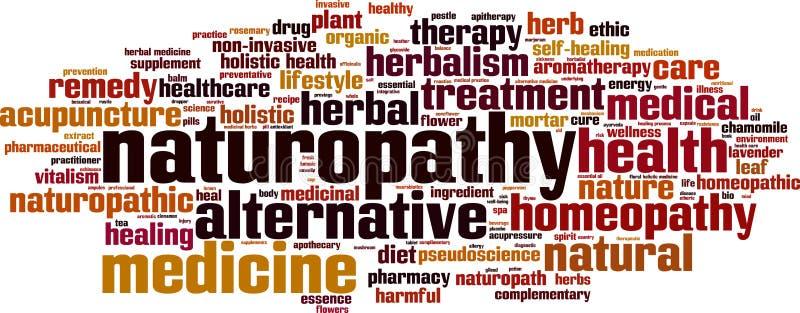 Σύννεφο λέξης Naturopathy απεικόνιση αποθεμάτων
