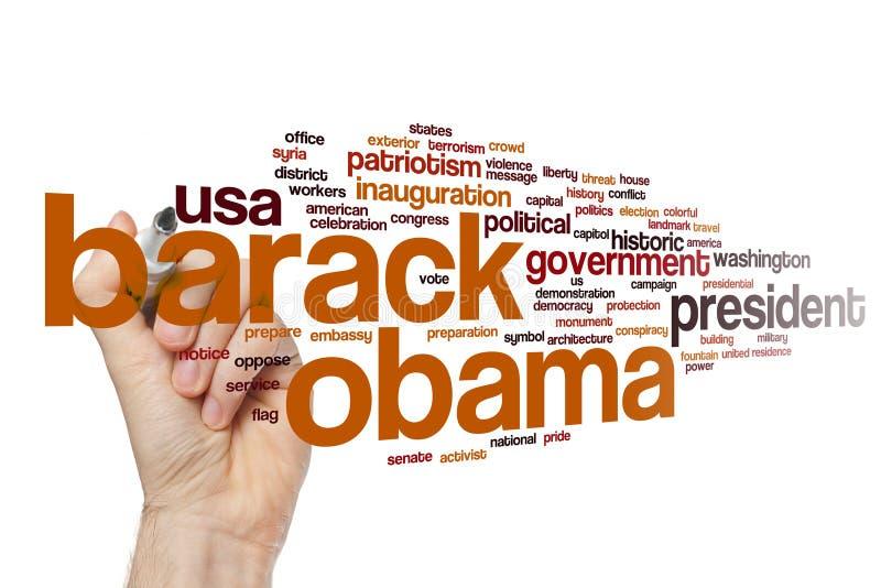 Σύννεφο λέξης Obama Barack στοκ φωτογραφίες με δικαίωμα ελεύθερης χρήσης