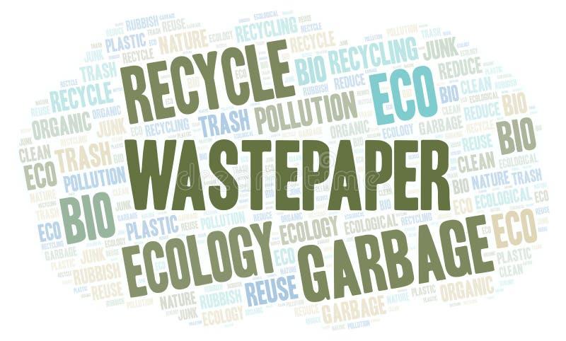 Σύννεφο λέξης Wastepaper διανυσματική απεικόνιση