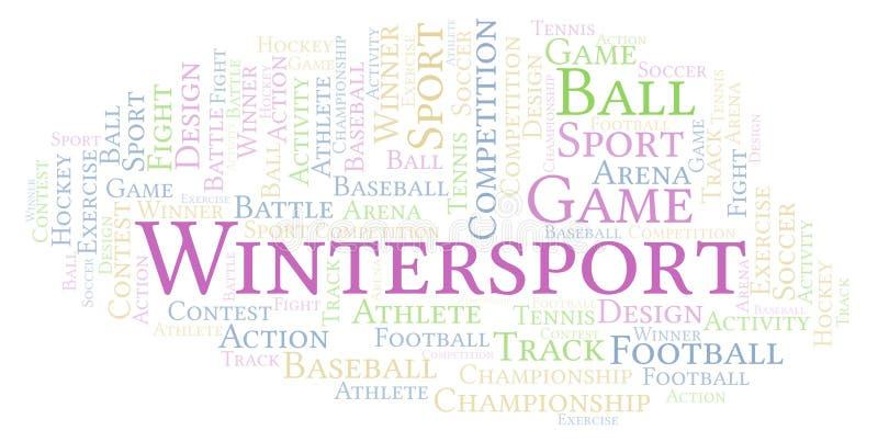 Σύννεφο λέξης Wintersport διανυσματική απεικόνιση