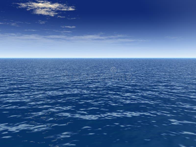 σύννεφο πέρα από τη θάλασσα ριπών ελεύθερη απεικόνιση δικαιώματος