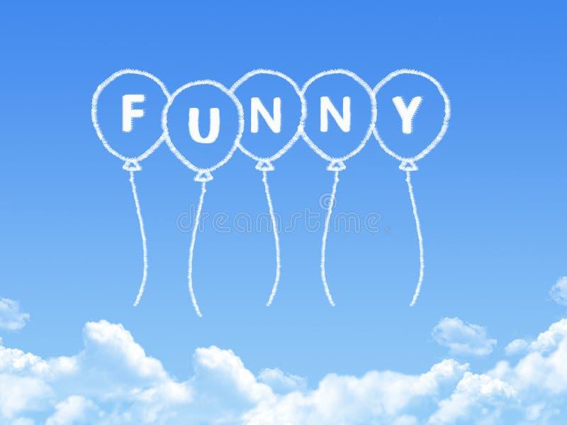 Σύννεφο που διαμορφώνεται ως αστείο μήνυμα διανυσματική απεικόνιση