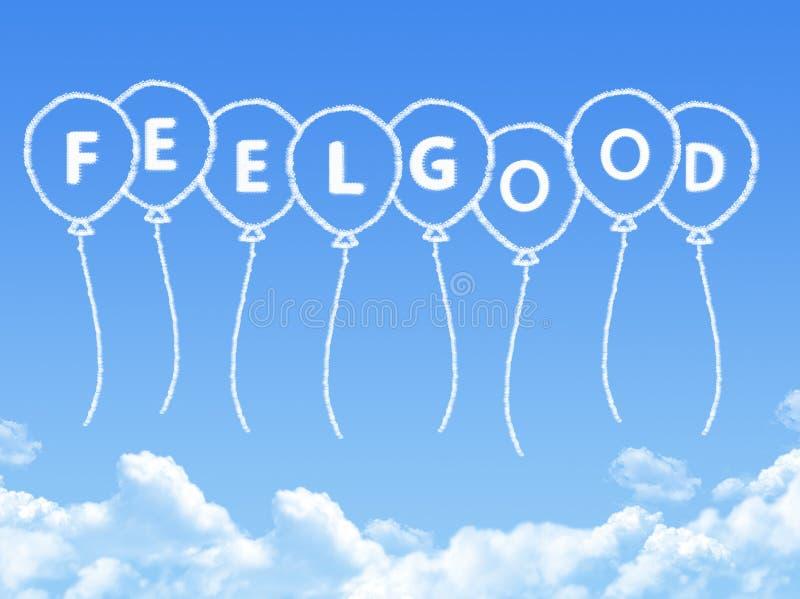 Σύννεφο που διαμορφώνεται ως καλό μήνυμα αίσθησης ελεύθερη απεικόνιση δικαιώματος