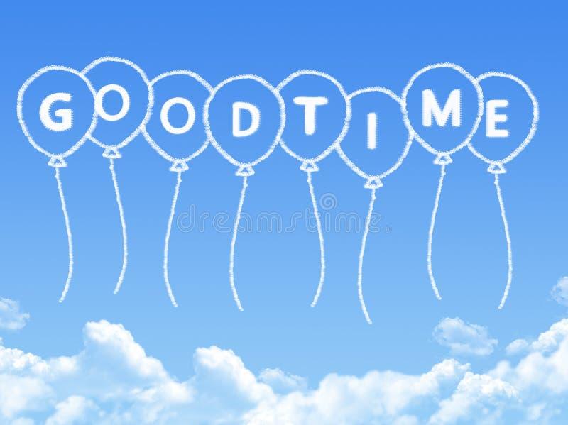 Σύννεφο που διαμορφώνεται ως καλό χρονικό μήνυμα απεικόνιση αποθεμάτων