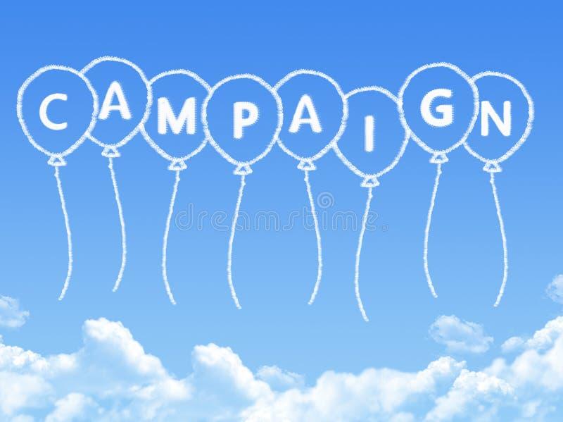 Σύννεφο που διαμορφώνεται ως μήνυμα εκστρατείας απεικόνιση αποθεμάτων