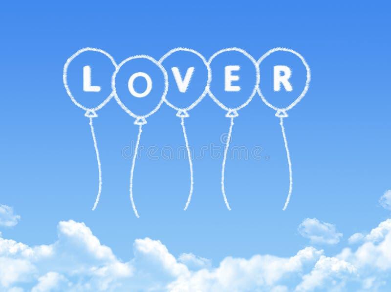 Σύννεφο που διαμορφώνεται ως μήνυμα εραστών ελεύθερη απεικόνιση δικαιώματος