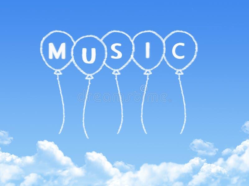 Σύννεφο που διαμορφώνεται ως μήνυμα μουσικής ελεύθερη απεικόνιση δικαιώματος