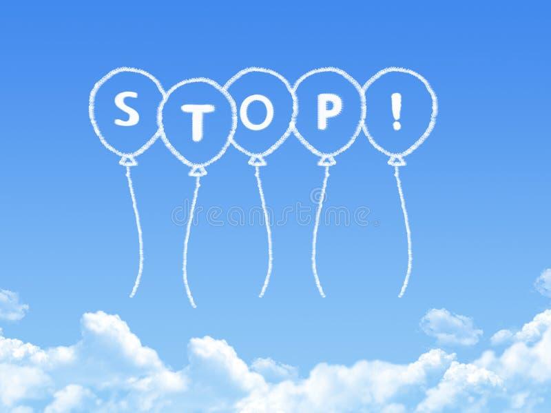 Σύννεφο που διαμορφώνεται ως μήνυμα στάσεων ελεύθερη απεικόνιση δικαιώματος