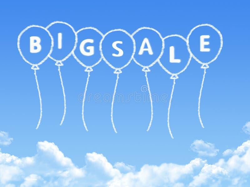 Σύννεφο που διαμορφώνεται ως μεγάλο μήνυμα πώλησης απεικόνιση αποθεμάτων