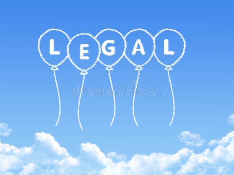 Σύννεφο που διαμορφώνεται ως νομικό μήνυμα απεικόνιση αποθεμάτων