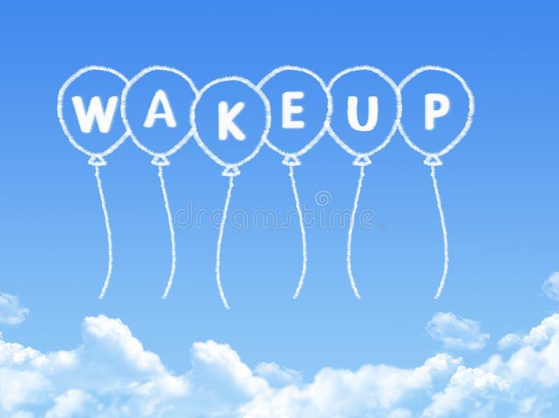 Σύννεφο που διαμορφώνεται ως ξυπνήστε μήνυμα ελεύθερη απεικόνιση δικαιώματος