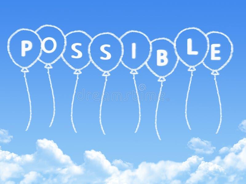 Σύννεφο που διαμορφώνεται ως πιθανό μήνυμα απεικόνιση αποθεμάτων