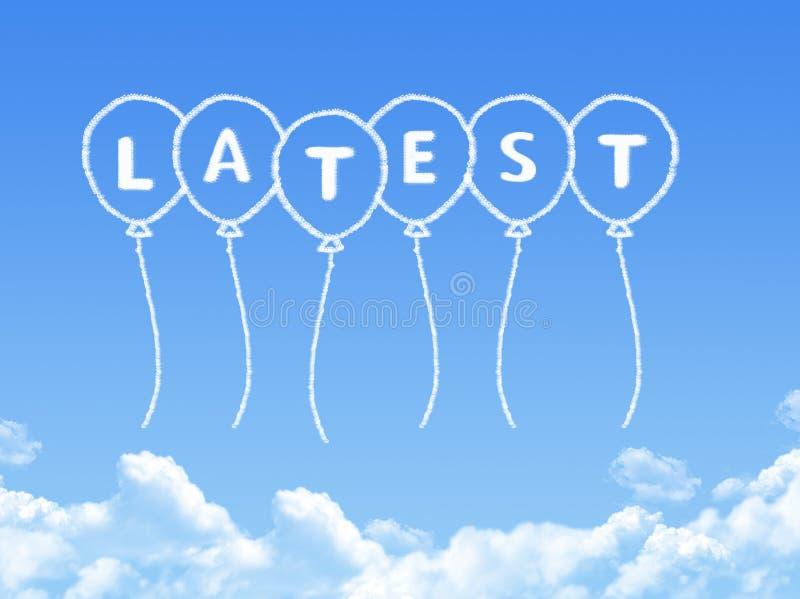 Σύννεφο που διαμορφώνεται ως πιό πρόσφατο μήνυμα ελεύθερη απεικόνιση δικαιώματος