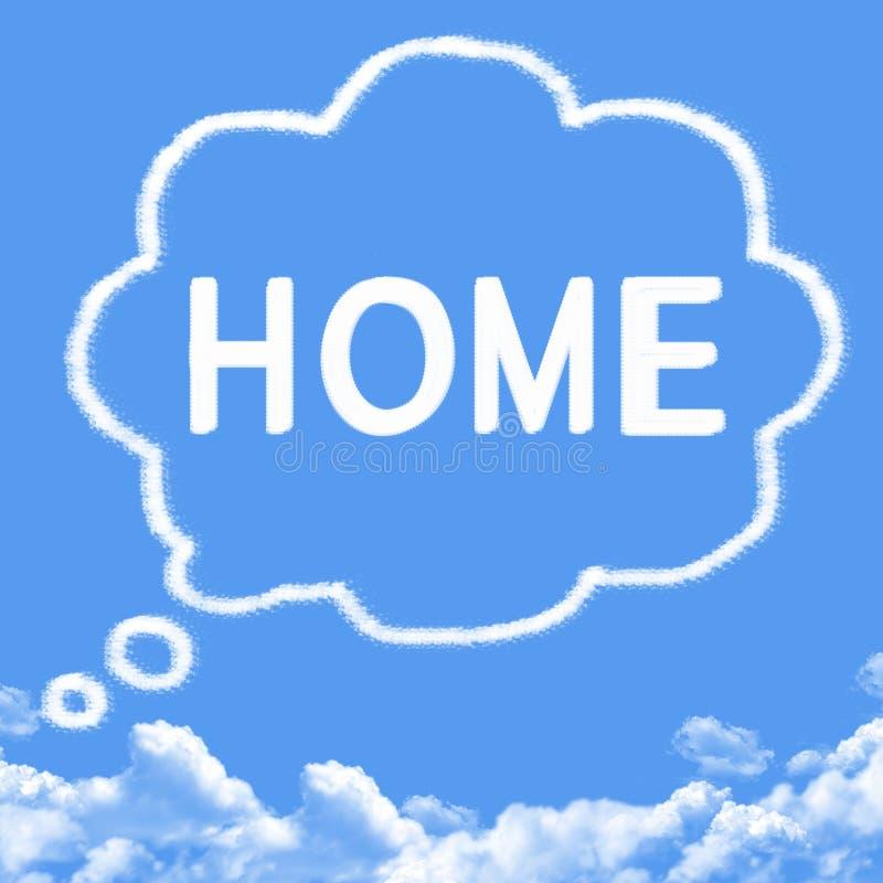 Σύννεφο που διαμορφώνεται ως σπίτι ονείρου διανυσματική απεικόνιση
