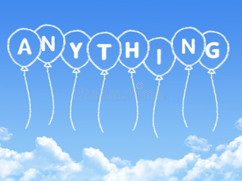Σύννεφο που διαμορφώνεται ως τίποτα το μήνυμα διανυσματική απεικόνιση