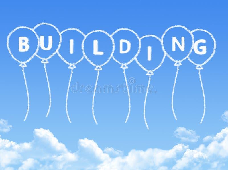 Σύννεφο που διαμορφώνεται όπως μήνυμα οικοδόμησης απεικόνιση αποθεμάτων