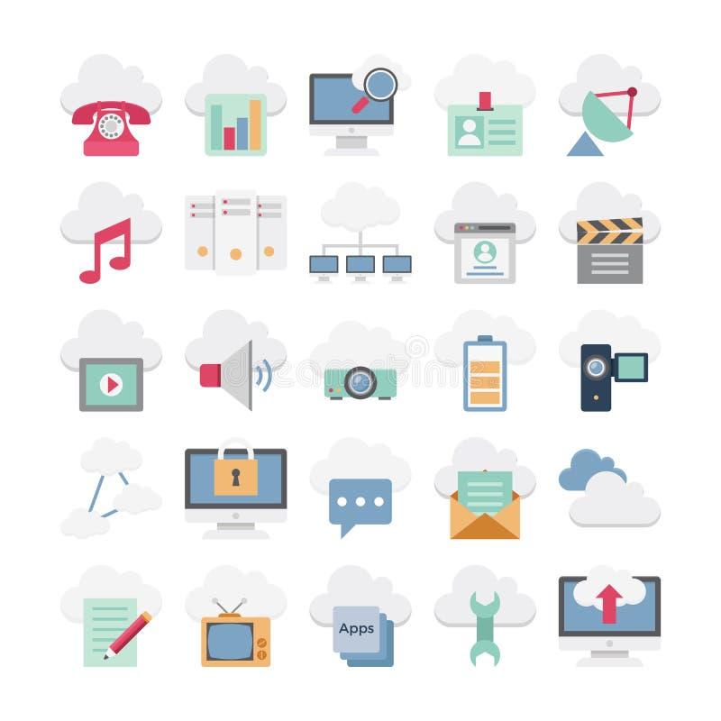Σύννεφο που υπολογίζει τη διανυσματική απεικόνιση ελεύθερη απεικόνιση δικαιώματος