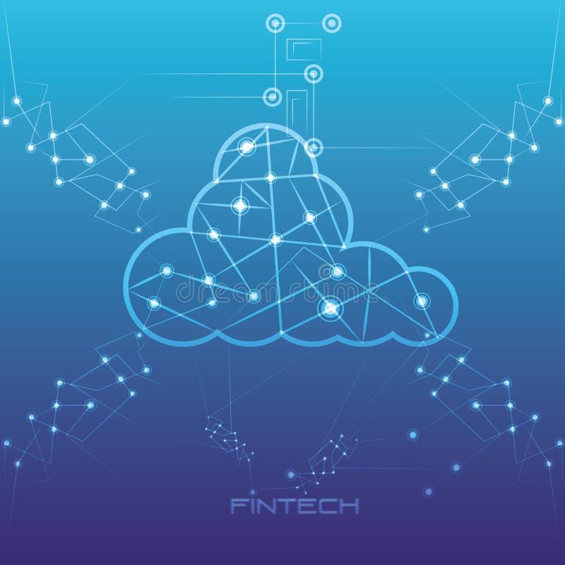 Σύννεφο που υπολογίζει το οικονομικό εικονίδιο τεχνολογίας απεικόνιση αποθεμάτων