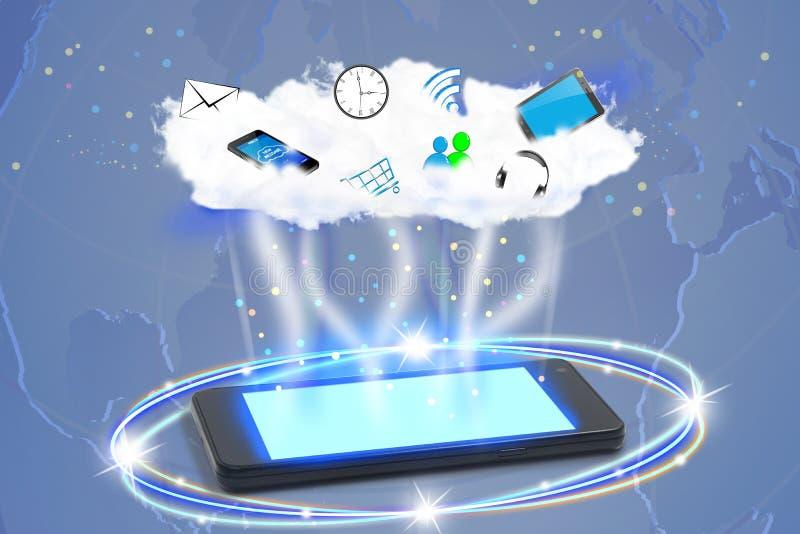 Σύννεφο, συνδέοντας κόσμος απεικόνιση αποθεμάτων
