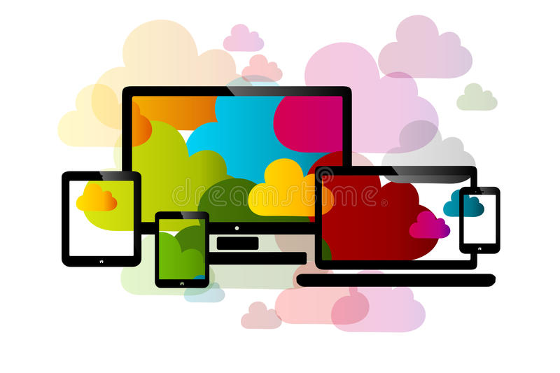 σύννεφο του 2010 που υπολ&omicron απεικόνιση αποθεμάτων