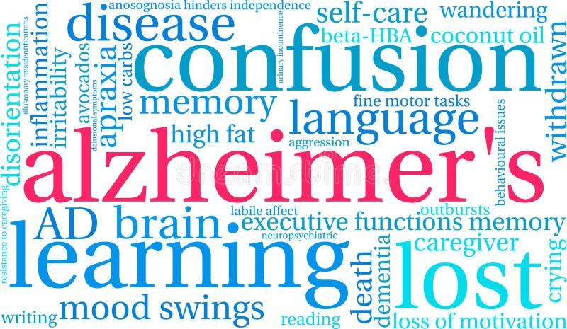 Σύννεφο του Alzheimer ` s Word διανυσματική απεικόνιση