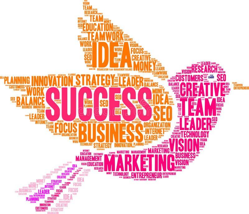 Σύννεφο του Word επιτυχίας απεικόνιση αποθεμάτων