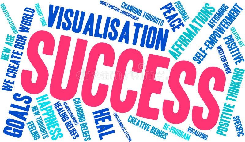 Σύννεφο του Word επιτυχίας διανυσματική απεικόνιση