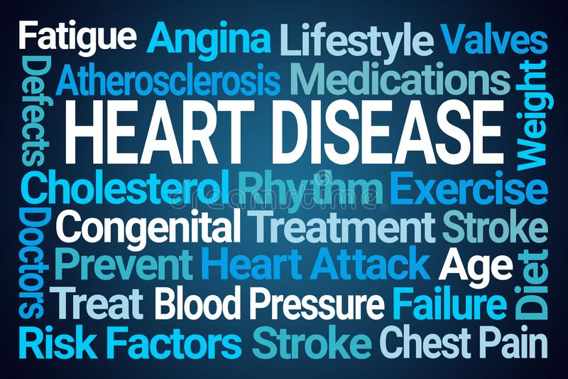 Σύννεφο του Word καρδιακών παθήσεων διανυσματική απεικόνιση