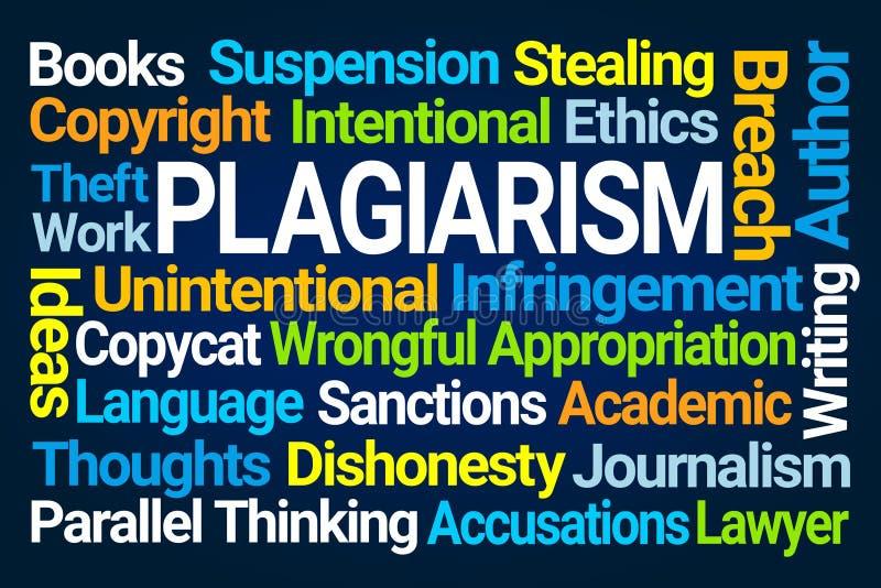 Σύννεφο του Word λογοκλοπής ελεύθερη απεικόνιση δικαιώματος