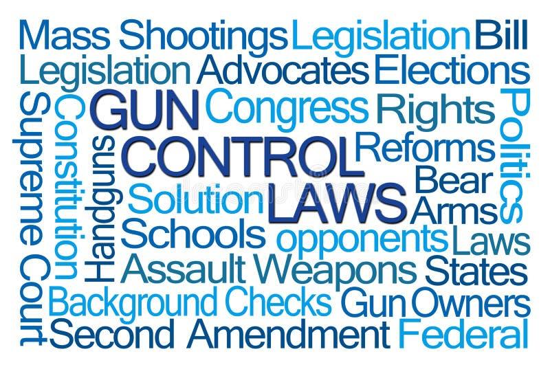 Σύννεφο του Word νόμων ελέγχου των όπλων ελεύθερη απεικόνιση δικαιώματος
