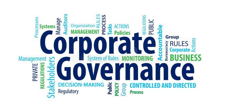 Σύννεφο του Word συνεργασίας κυβερνήσεων διανυσματική απεικόνιση