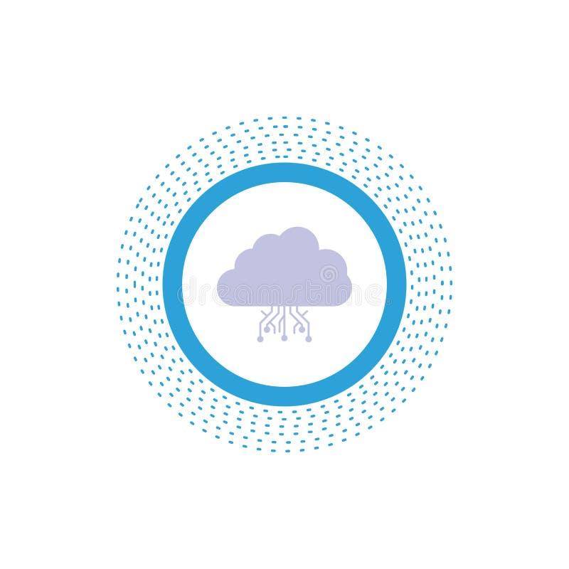 σύννεφο, υπολογισμός, στοιχεία, φιλοξενία, εικονίδιο Glyph δικτύων : ελεύθερη απεικόνιση δικαιώματος