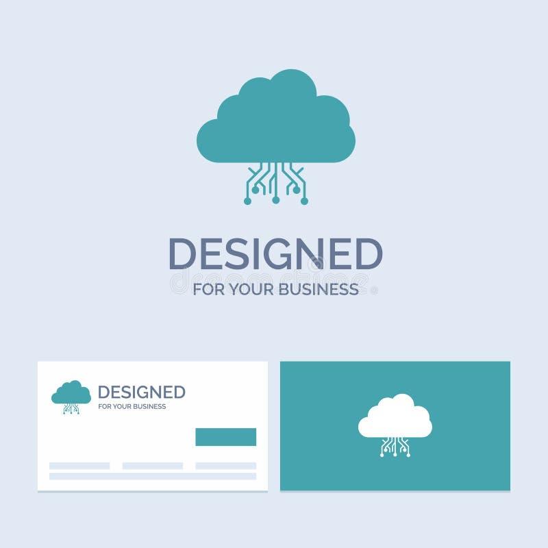 σύννεφο, υπολογισμός, στοιχεία, φιλοξενία, σύμβολο εικονιδίων Glyph επιχειρησιακών λογότυπων δικτύων για την επιχείρησή σας Τυρκο ελεύθερη απεικόνιση δικαιώματος