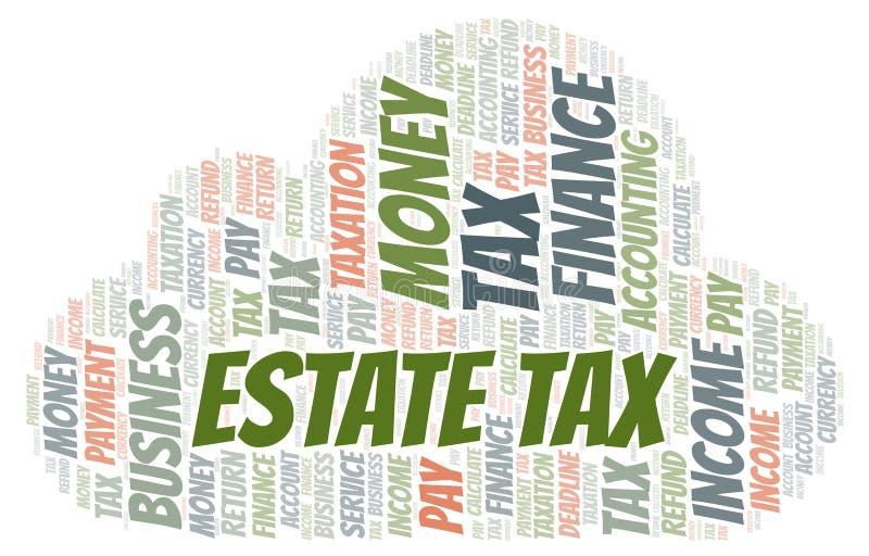 Σύννεφο φορολογικής λέξης κτημάτων ελεύθερη απεικόνιση δικαιώματος
