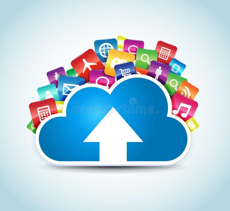 Σύννεφο Apps διανυσματική απεικόνιση