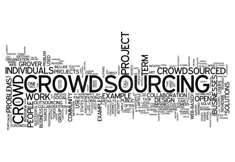 Σύννεφο Crowdsourcing λέξης ελεύθερη απεικόνιση δικαιώματος