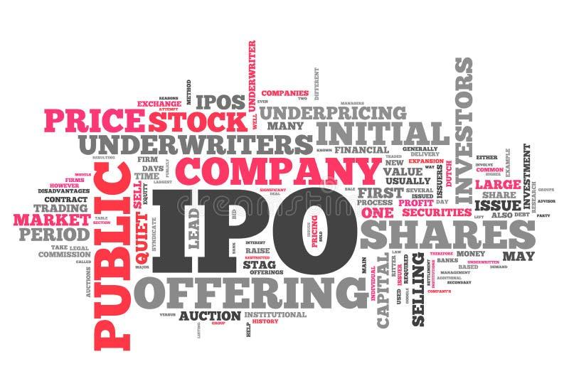 Σύννεφο IPO λέξης ελεύθερη απεικόνιση δικαιώματος
