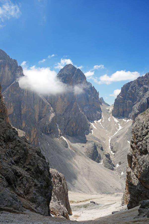 Σύνοδος κορυφής δ ` Antermoia Catinaccio στοκ εικόνα