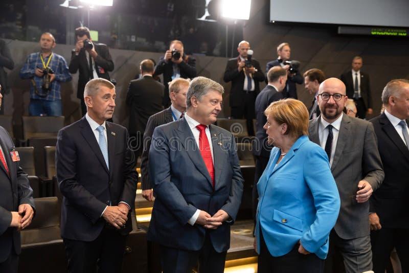 Σύνοδος κορυφής στρατιωτικής συμμαχίας του ΝΑΤΟ στις Βρυξέλλες στοκ εικόνες με δικαίωμα ελεύθερης χρήσης