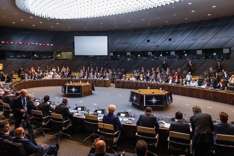 Σύνοδος κορυφής στρατιωτικής συμμαχίας του ΝΑΤΟ στοκ εικόνες