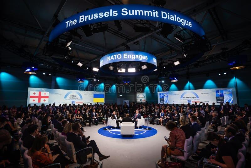 Σύνοδος κορυφής στρατιωτικής συμμαχίας του ΝΑΤΟ στοκ φωτογραφία με δικαίωμα ελεύθερης χρήσης