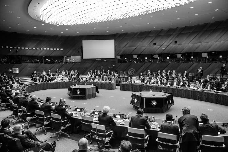Σύνοδος κορυφής στρατιωτικής συμμαχίας του ΝΑΤΟ στοκ εικόνα με δικαίωμα ελεύθερης χρήσης