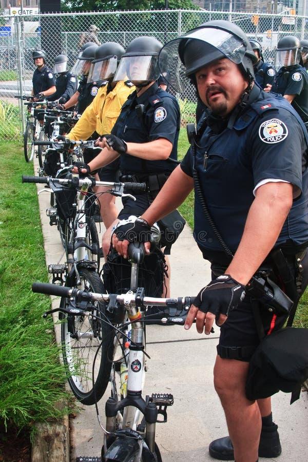σύνοδος κορυφής protestors αστυ στοκ εικόνα