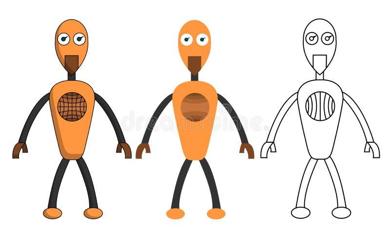 Σύνολο αγοριού ρομπότ στο διαφορετικό ύφος Απομονωμένη διανυσματική απεικόνιση αποθεμάτων απεικόνιση αποθεμάτων