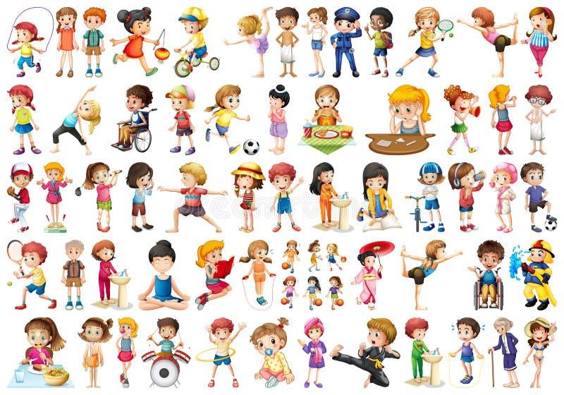 Σύνολο αθλητικών παιδιών απεικόνιση αποθεμάτων